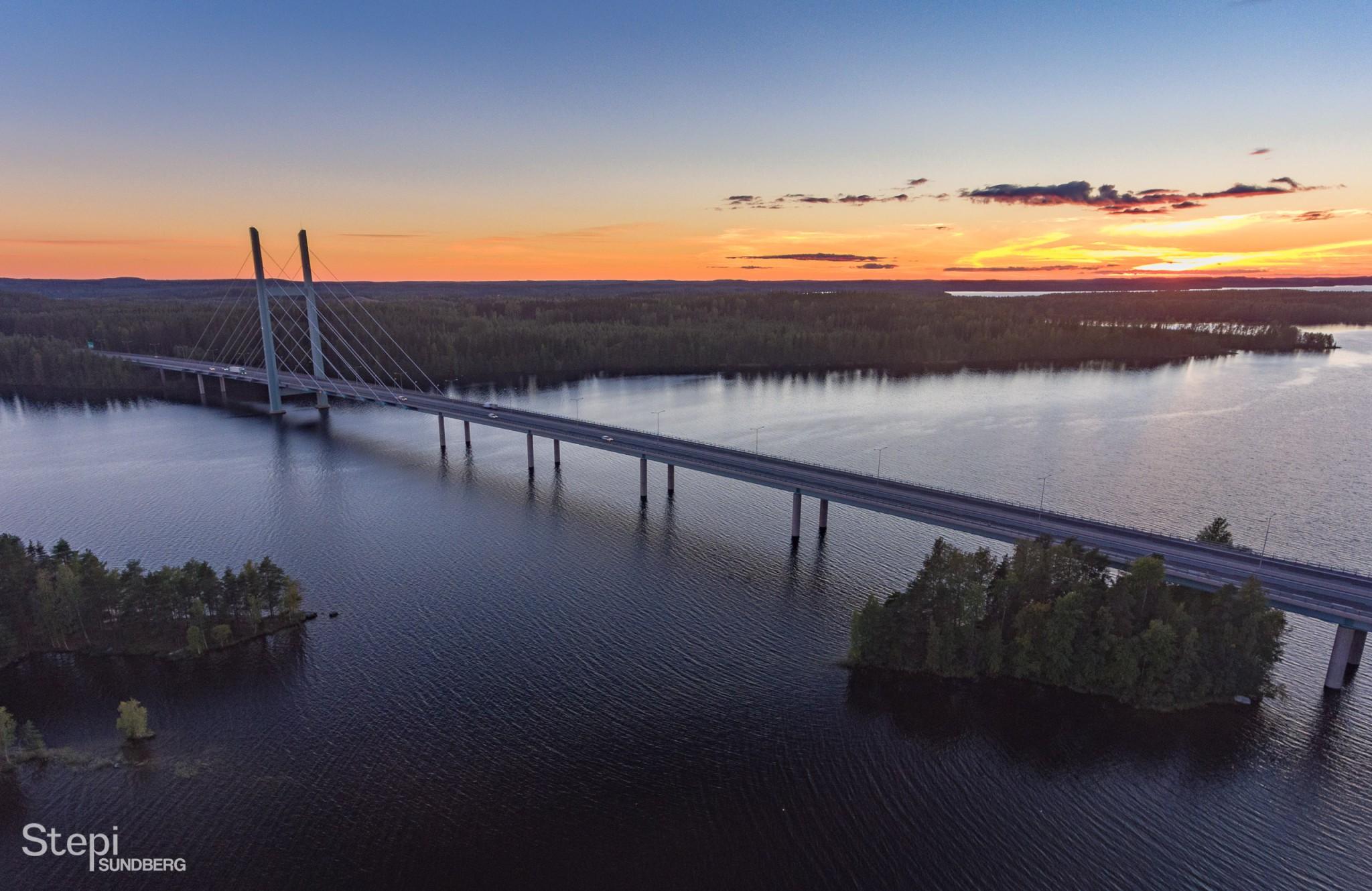 Ilmakuva Tähtiniemen silta, Valokuvaaja Stepi Sundberg